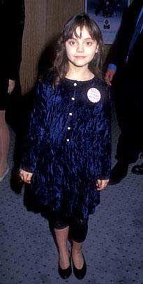 Christina Ricci de kariyerine çocukken başlayanlardan.